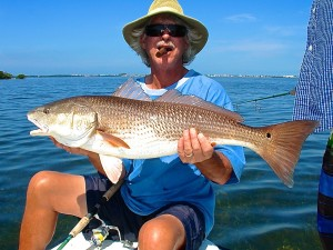 David Parker with large redfish.