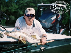 Tampa Bay Florida Fly Fishing Guide Capt. Russ Shirley • Snook fishing..