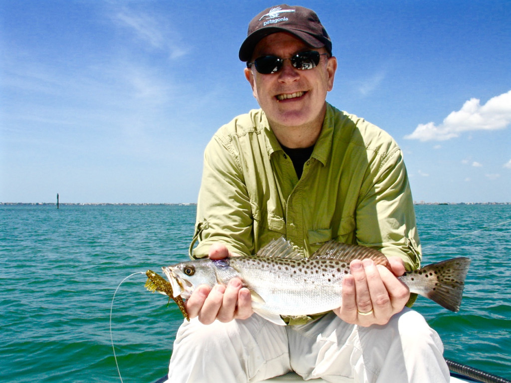 Andrew Keenan with Spotted Seatrout.