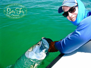 """First tarpon on fly"" for Brett McGreaham!"